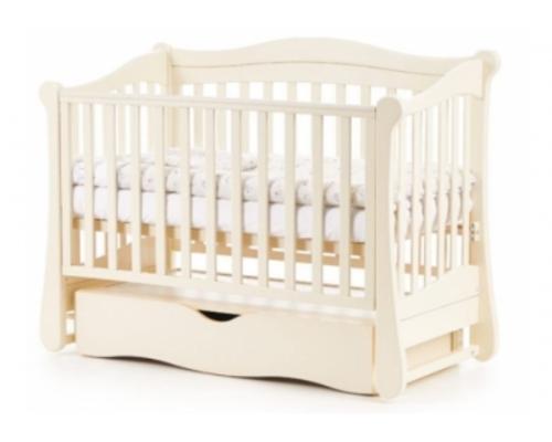 Детская кроватка Соня ЛД-18 цвет слоновая кость маятник с ящиком - Фото №1