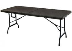 Стол садовый складной Додж MZK-180 180/90*75*74 пластик Wooden Brown