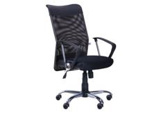 Кресло АЭРО HB Line Сетка черная, вставка Неаполь N-20