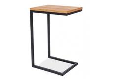 Столик  Signal Largo C 40*30*h60 см МДФ дуб/ножки металлические черные