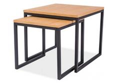 Набор из двух столиков  Signal Largo Duo МДФ дуб/ножки металлические черные