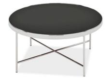 Кофейный круглый стол Gina B Signal d82*h40 черный/хром