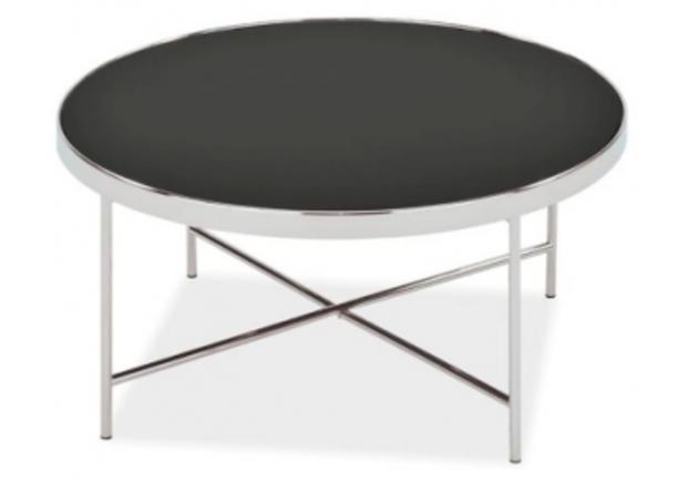 Кофейный круглый стол Gina B Signal d82*h40 черный/хром - Фото №1
