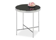 Кофейный столик Gina С Signal d43*h45 черный/хром