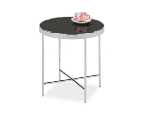 Кофейный столик Gina С Signal d43*h45 черный/хром - Фото №1