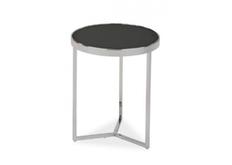 Кофейный круглый стол Delia I Signal d43*h52 черный/хром