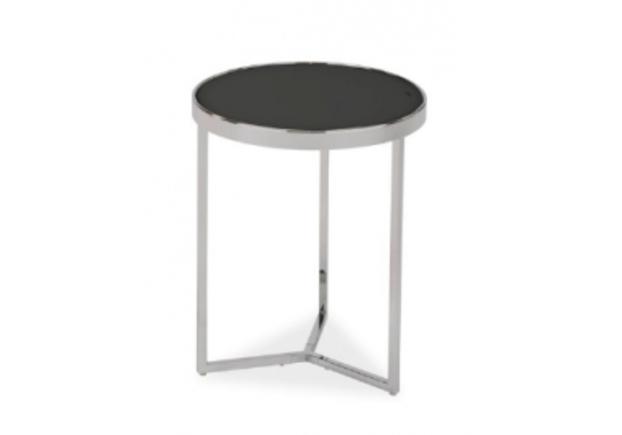 Кофейный круглый стол Delia I Signal d43*h52 черный/хром - Фото №1