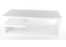Стол Tierra Signal МДФ белый глянец/хром 100*60*h42 см