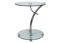 Столик Muna стекло/хром