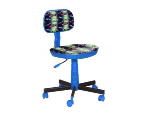 Кресло детское Киндер Машинки (пластик синий) - Фото №1