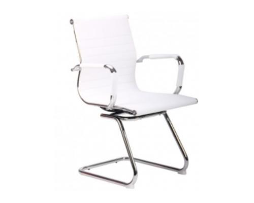Кресло Slim CF (XH-632C) белый спинка черная - Фото №1