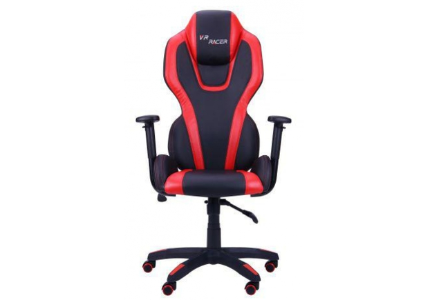 Кресло VR Racer Atom черный, PU черный/красный - Фото №2