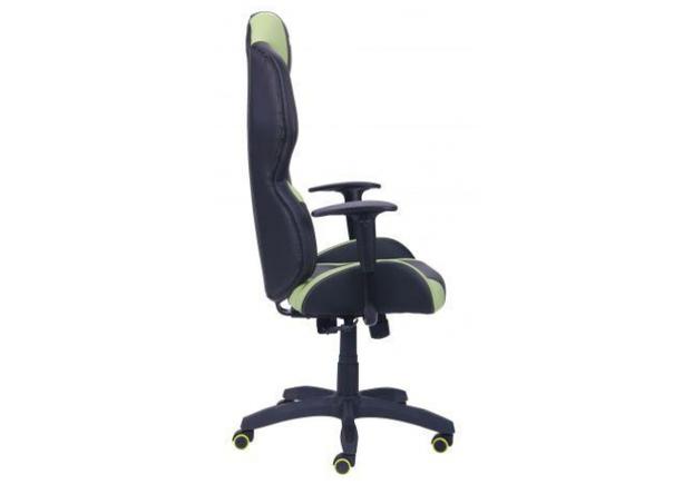 Кресло VR Racer Zeus черный, PU черный/зеленый - Фото №2