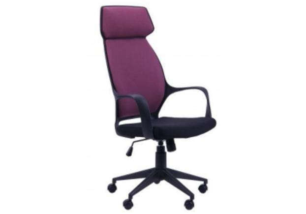 Кресло Concept черный, ткань цвет пурпурный - Фото №1
