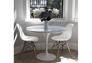 Стол обеденный  Тюльпан d 80 см белый - Фото №2