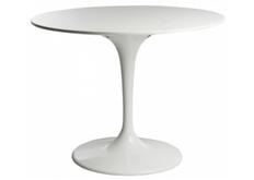 Стол обеденный деревянный Тюльпан d 80 см белый