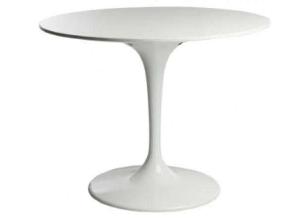 Стол обеденный  Тюльпан d 80 см белый - Фото №1