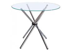 Стол обеденный стеклянный Тог d 90 см прозрачный