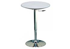 Стол высокий барный Амира d60*h70(90) см белый