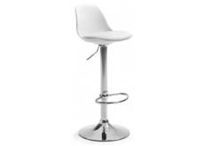 Высокий барный стул с подушкой белый