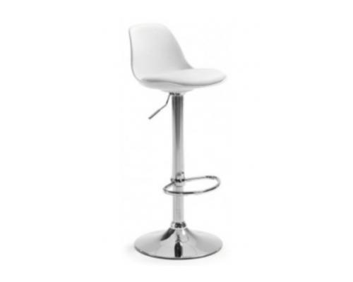 Высокий барный стул  с подушкой Тау H белый/ ножки металл - Фото №1