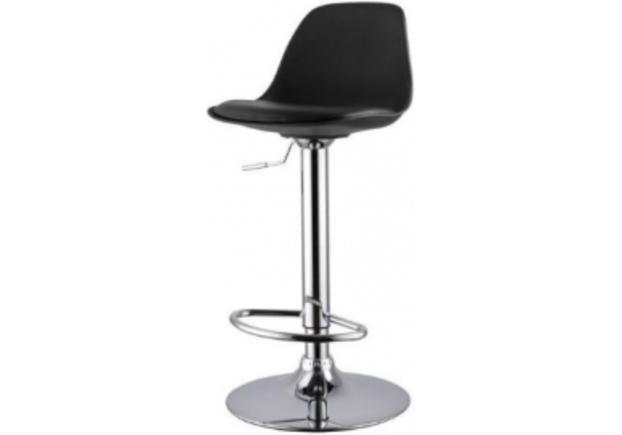 Высокий барный стул  с подушкой Тау H черный/ ножки металл черные - Фото №1
