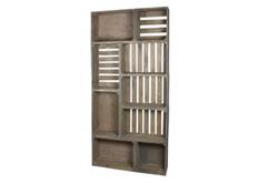Шкаф-трансформер Амстердам 100*h200*23 см серый