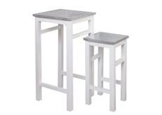 Стол-подиум Антверпен 40*h80*40 см белый/металл