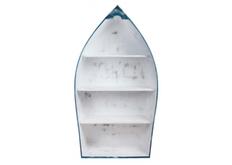 Этажерка Гавана 75*h140*35 см  белый шебби/голубой