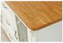 Комплект для гостинной - Витрина Фридом с витражным комодом слоновая кость с золотой патиной - Фото №4
