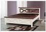 Двухспальная кровать Нормандия 160х200 см ваниль - темный орех - Фото №2