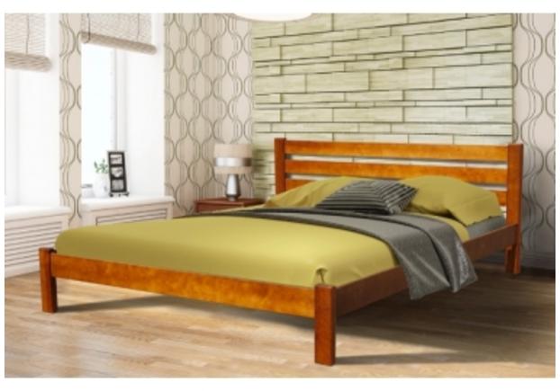 Двухспальная кровать Инсайд 160х200 см орех / темный орех - Фото №1