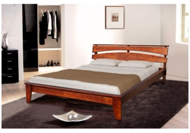 Двухспальная кровать Торонто 160х200 см темный орех - Фото №1