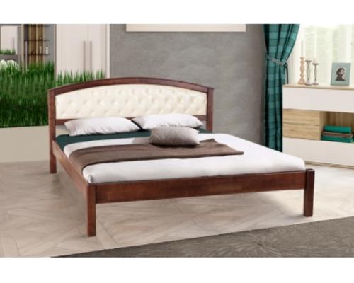 Двухспальная кровать Джульетта 160х200 см мягкое изголовье темный орех  - Фото №1