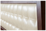 Двухспальная кровать Карина 160х200 см мягкое изголовье темный орех  - Фото №2