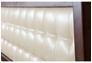 Двухспальная кровать Карина 140х200 см мягкое изголовье темный орех  - Фото №2