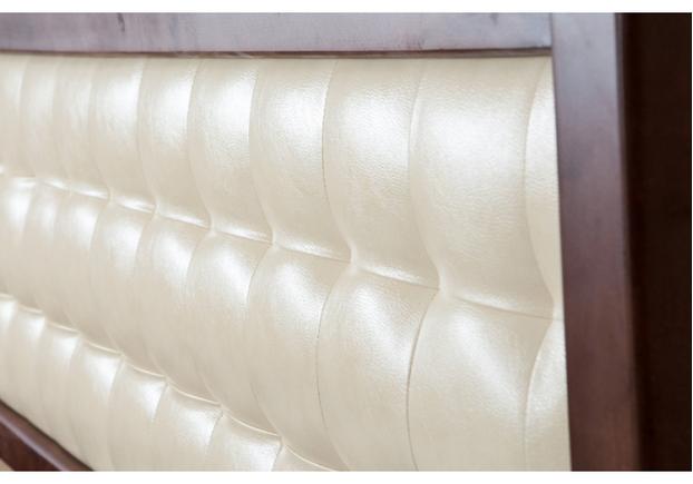Двухспальная кровать Карина 180х200 см мягкое изголовье темный орех  - Фото №2