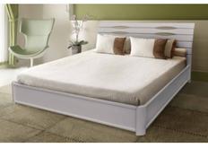 Кровать Мария с подъемным механизмом 140х200 см массив бука белая