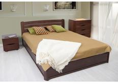 Двухспальная кровать София 160х200 см орех темный