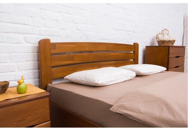 Двухспальная кровать из бука София 140х200 см орех темный - Фото №2