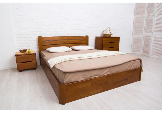 Двухспальная кровать из бука София 180х200 см орех темный - Фото №2