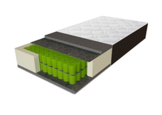 Матрас пружинный экстражесткий Sleep&Fly Organic Delta 90x200хh28 см