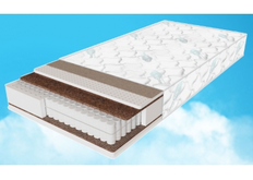Матрас пружинный средней жесткости Sleep&Fly Extra Latex 80x200см