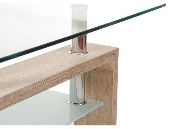 Столик журнальный С-107-2 белый дуб стекло/МДФ 110*60*h45 - Фото №2