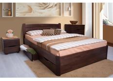 Кровать София с ящиками 140*200 см массив бука