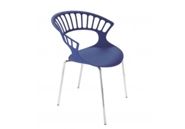 Кресло Papatya Tiara пурпурное/база хром - Фото №1