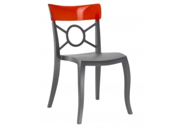 Кресло Papatya Opera-S сиденье антрацит/верх темно-красный прозрачный - Фото №1