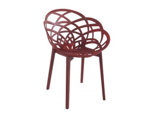 Кресло барное пластиковое Flora красный кирпич матовое - Фото №1
