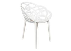 Кресло барное пластиковое Flora верх белый/низ белый