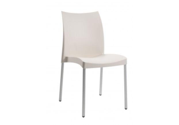 Кресло Papatya Marvel-S сиденье слоновая кость/ножки алюминиевые  - Фото №1